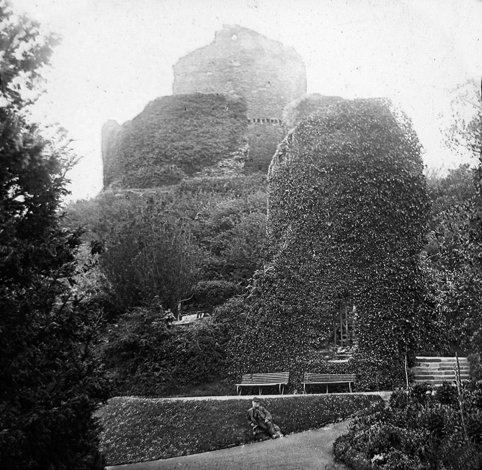 Launceston Castle in 1890.