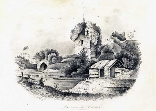 launceston-castle-graphite-drawing-from-1835