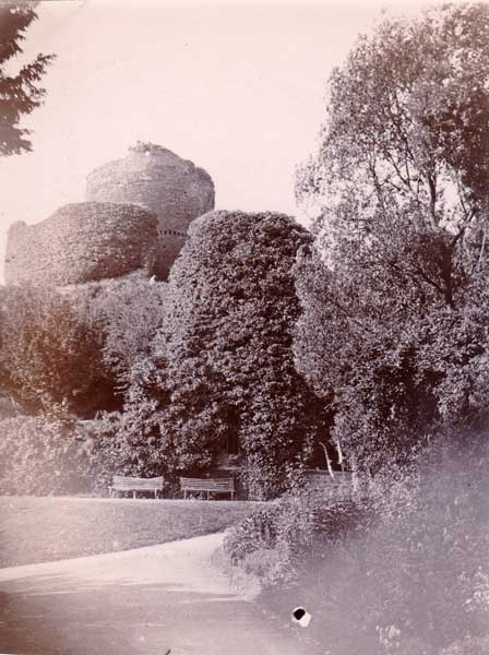 Launceston Castle in 1894 by A.R.Q. Quinton.