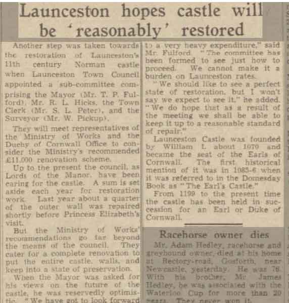 launceston-castle-renovation-western-morning-news-25-march-1950