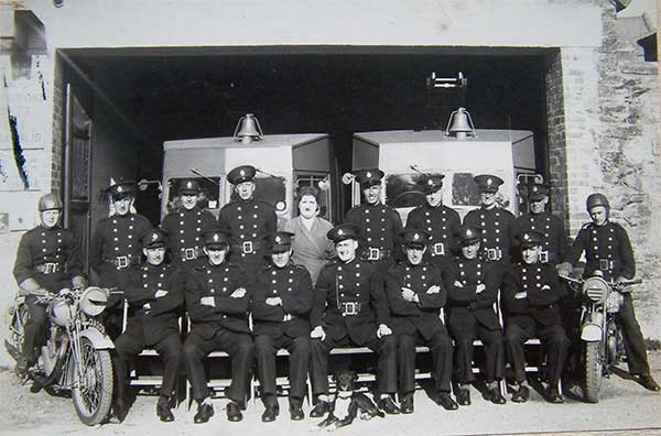 Launceston Fire Brigade during the Second World War.