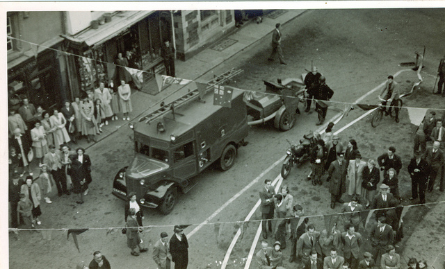 Launceston Fire Brigade demonstration in 1942.