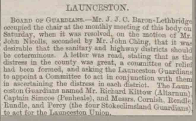 Article from The Exeter and Plymouth Gazette on November 29th 1878.