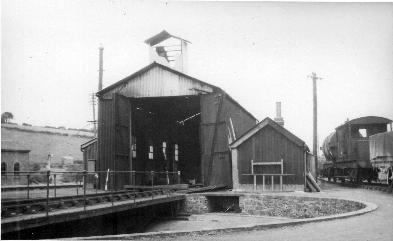 Launceston LSWR engine shed and turntable.