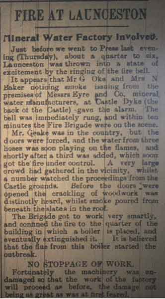 launceston-mineral-water-co-castle-dyke-fire-april-1914