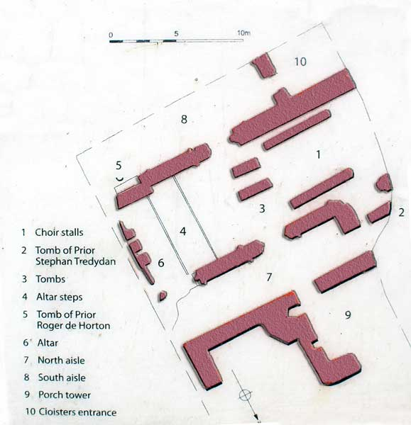 launceston-priory-ruins-layout-july-2015