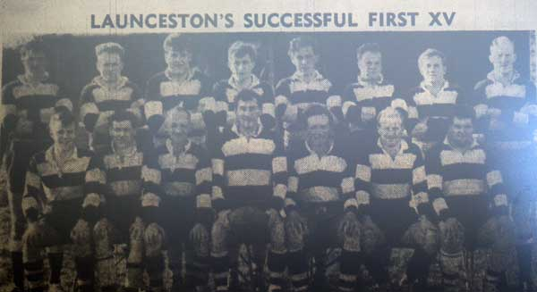 Launceston Rugby Team 1963.
