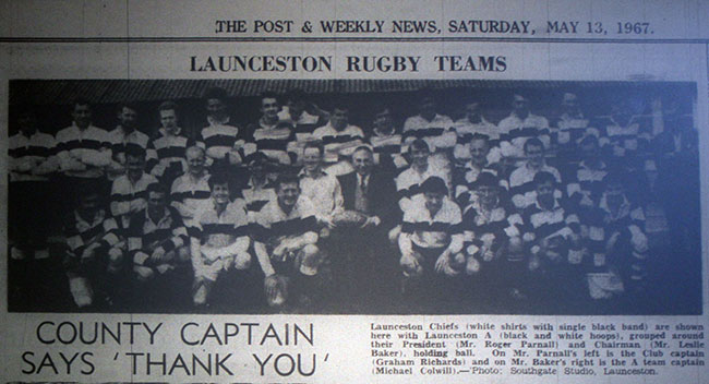 Launceston Rugby Teams 1967