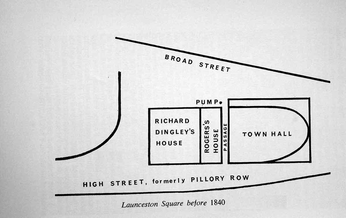 launceston-town-centre-map-before-1840