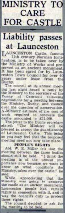 launceston-castle-responsibilty-being-passed-over-article-in-1950