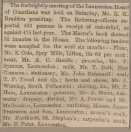 Article from The Exeter and Plymouth Gazette on September 24th 1894.