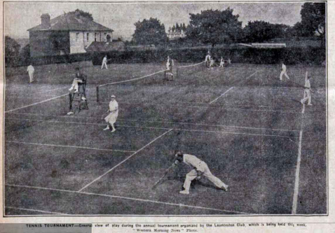 Tennis tournament at Launceston in 1927.