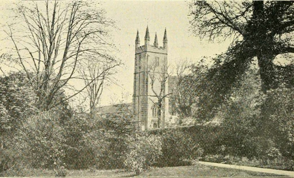 Lezant Church in 1900 by Hayman