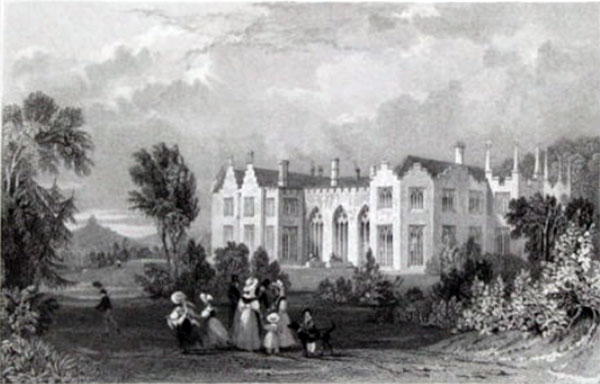 Lifton Park House engraving.