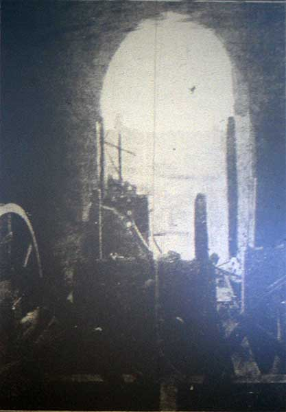 lifton-church-after-a-lightning-strike-destroyed-the-bell-tower-north-window-in-1923