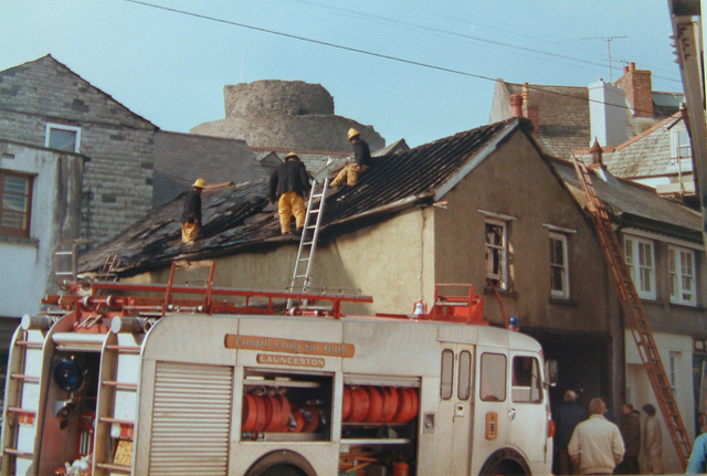 mMarket Street Fire in 1984. Photo courtesy of Gary Chapman.