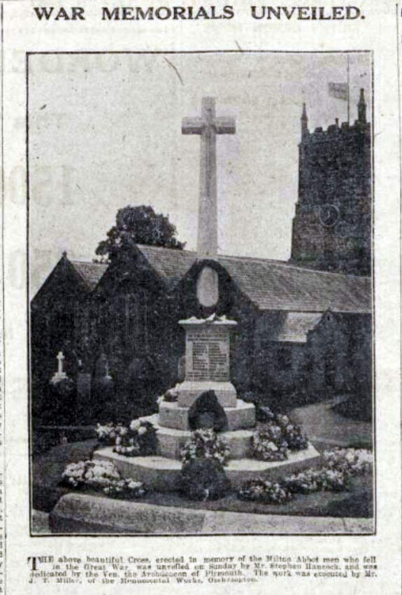 milton-abbot-war-memorial-1921