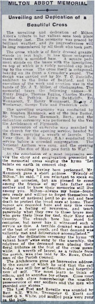 milton-abbot-war-memorial-unveiling-in-june-1921-article
