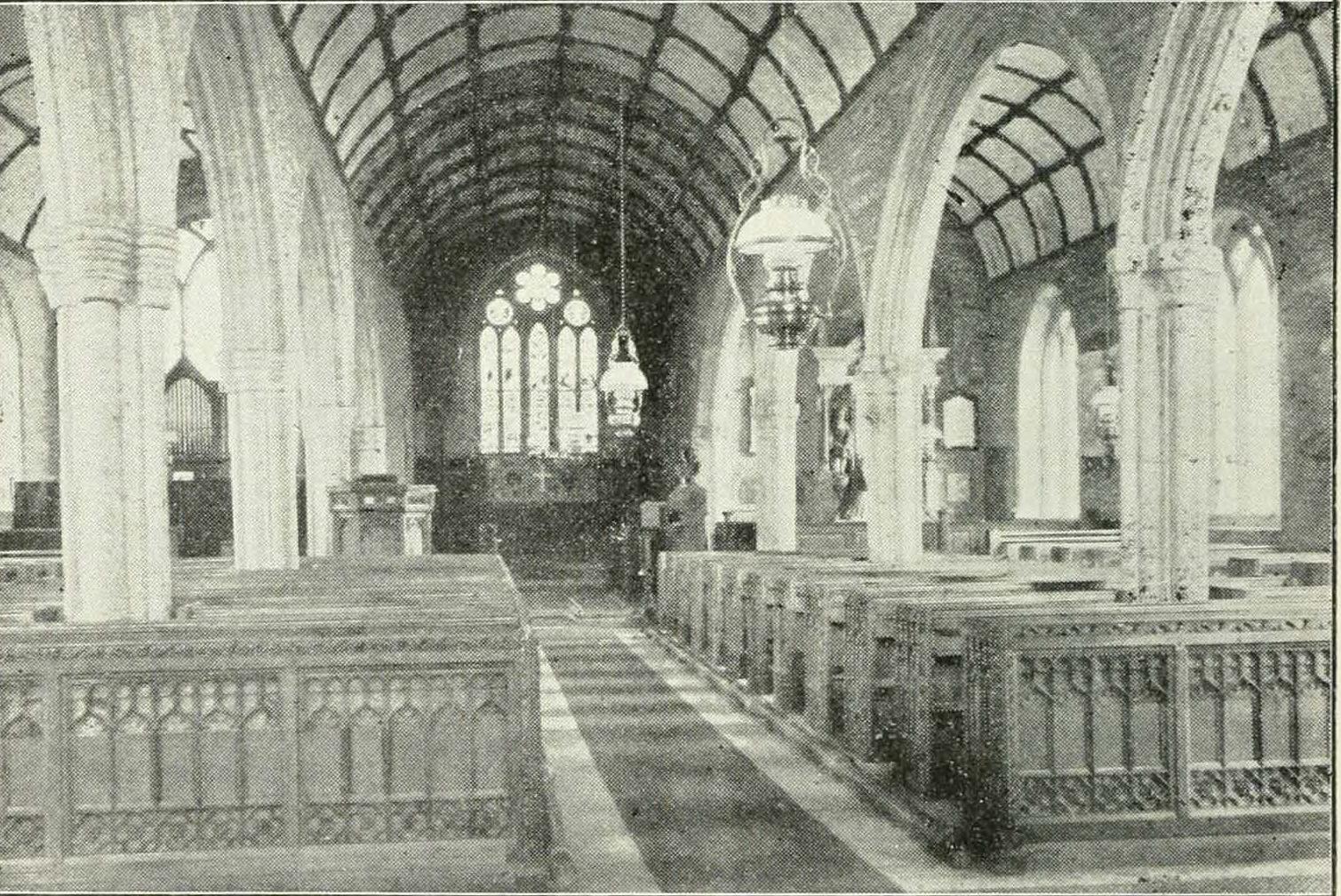 North Hill Church interior in 1900