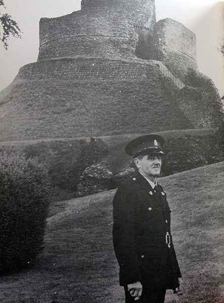 Launceston Castle custodian Reg Taylor in the 1970's.