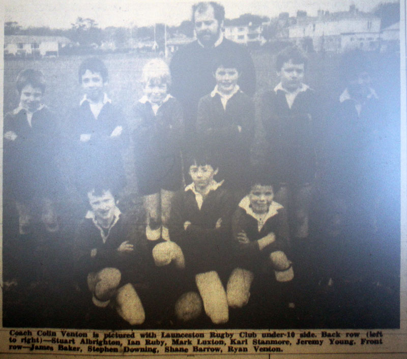 Launceston under 10's Rugby Team 1985.