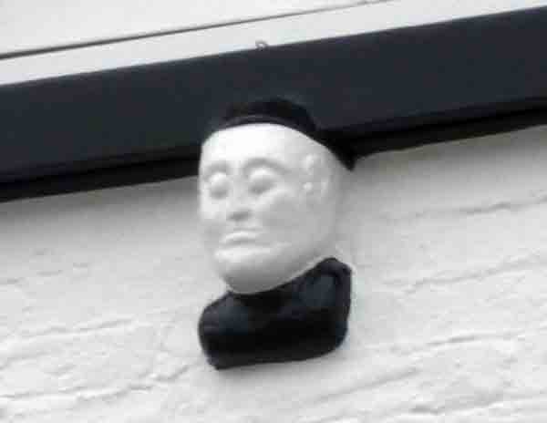Above the former M.P. For Launceston, Mr Haliburton died on 27 August, 1865, after a short illness. One of the honours from Launceston was a bust of himself, which was inserted into the fabric of the front of the White Hart Hotel, just below the window of the room it is thought he stayed in on his visits to the Borough.