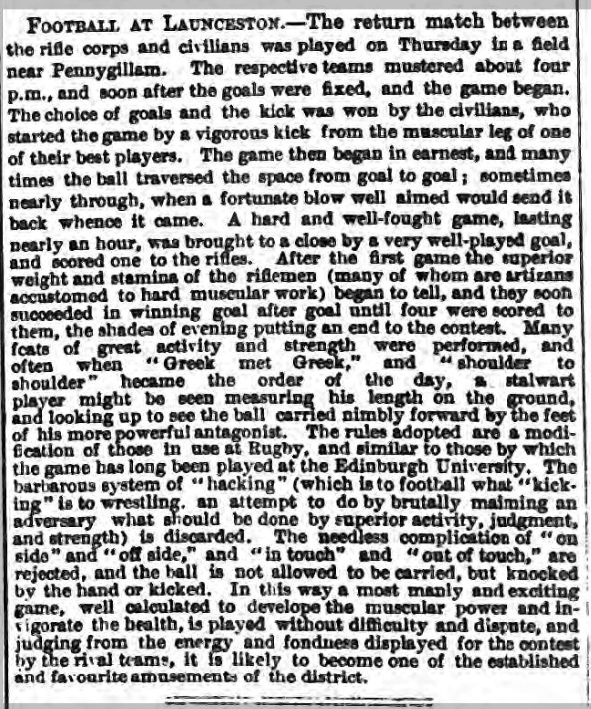 September 30th 1869 football article
