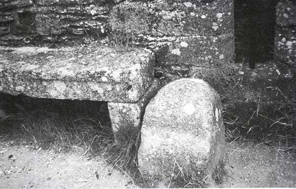 The Sheriff Stone that stands in Launceston Castle.
