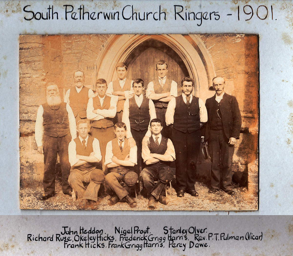 South Petherwin Bell-ringers from 1901.