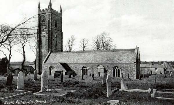 ST. Paternus Church, South Petherwin c.1910.