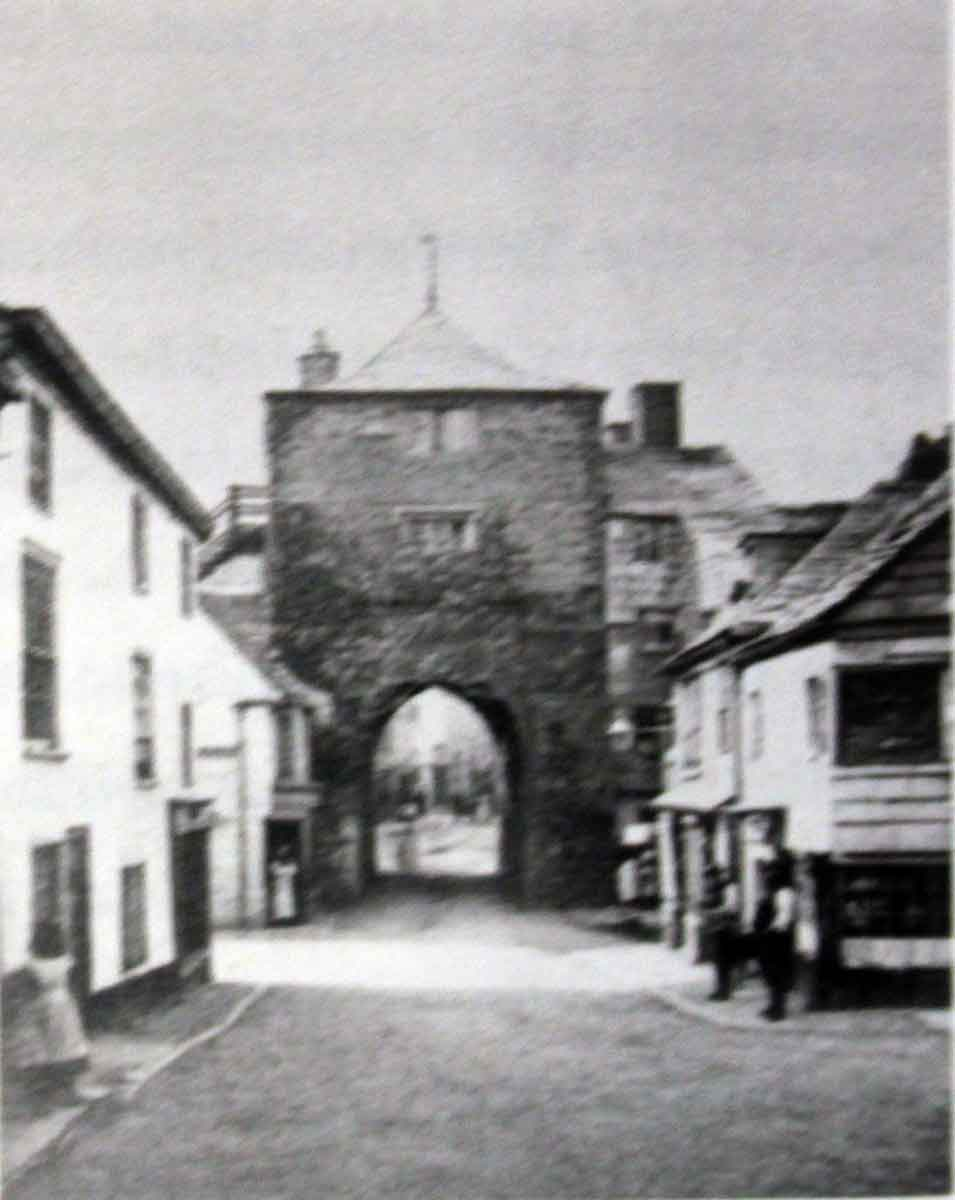 Launceston's Southgate in 1870
