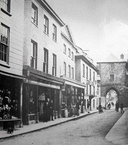 Launceston's Southgate and Southgate Street in 1880.
