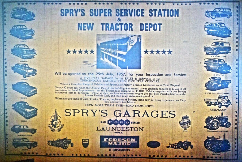 Sprys of Launceston 1957 advert