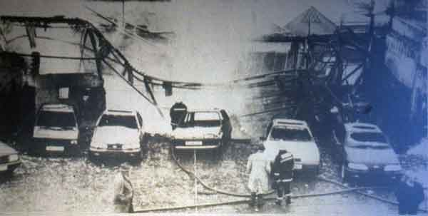 The damage caused by the 1992 Fire.