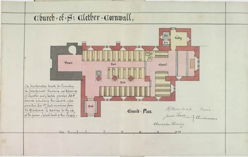 St. Clether Church Plan.