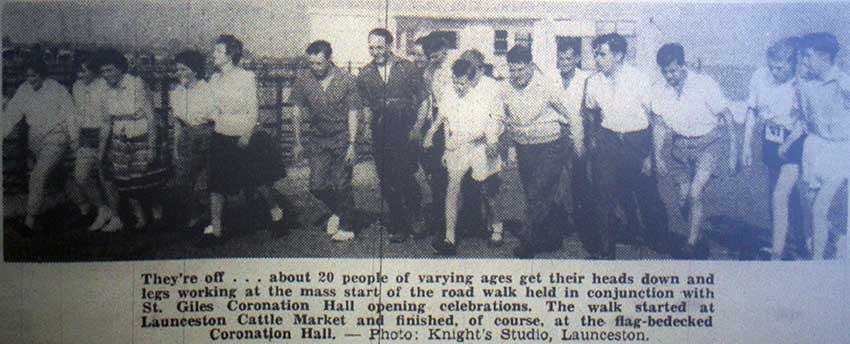 st-giles-coronation-hall-opening-walk-to-launceston-in-1961