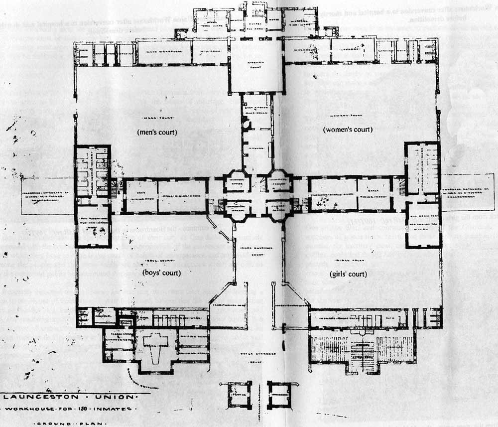 Launceston Workhouse plan.