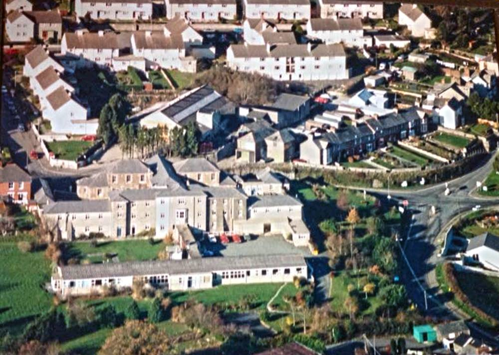 Aerial of St. Mary's Hospital, Launceston, Cornwall