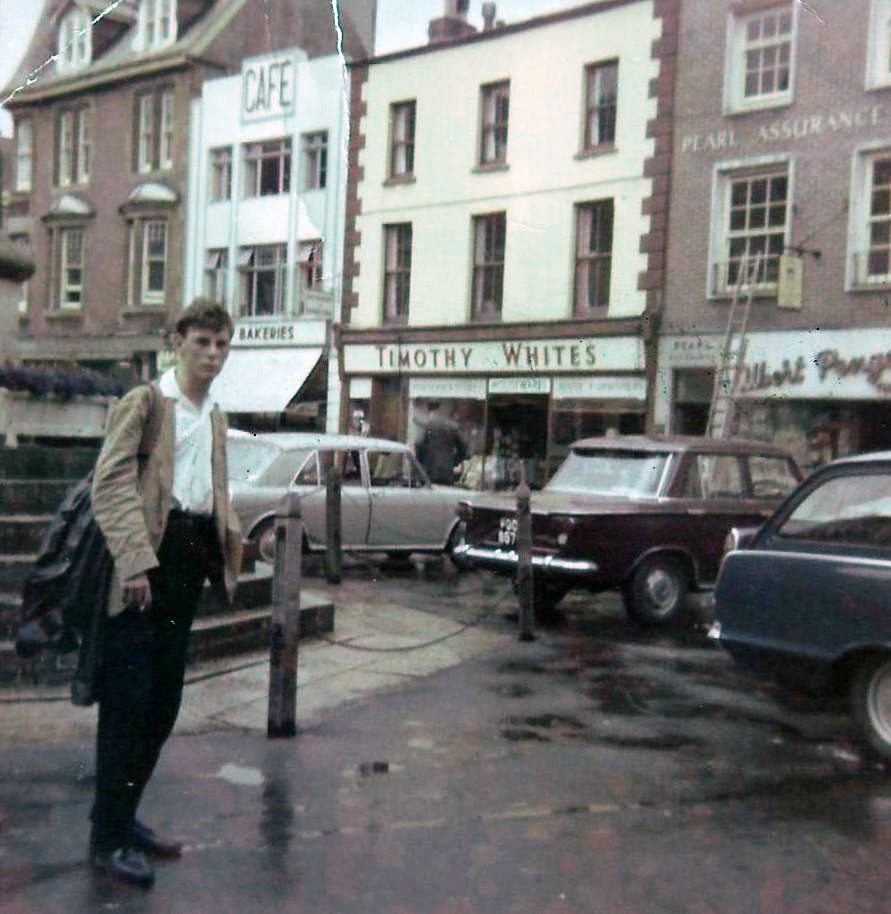 Tarry Barriball in Launceston town centre in 1965.
