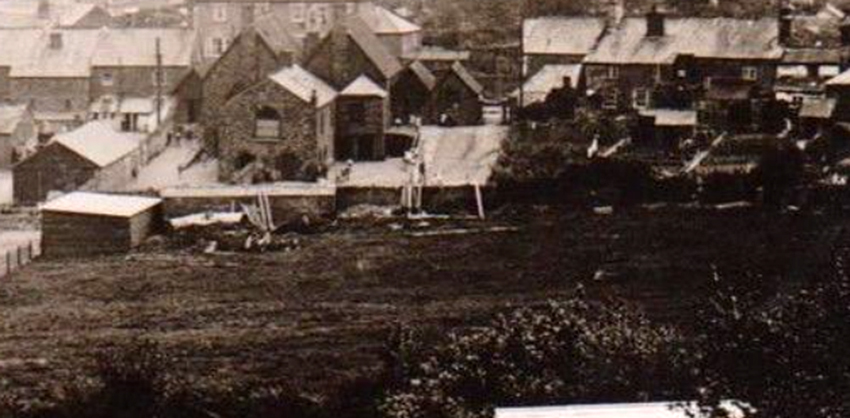 The rear of Lifton School c.1920's.