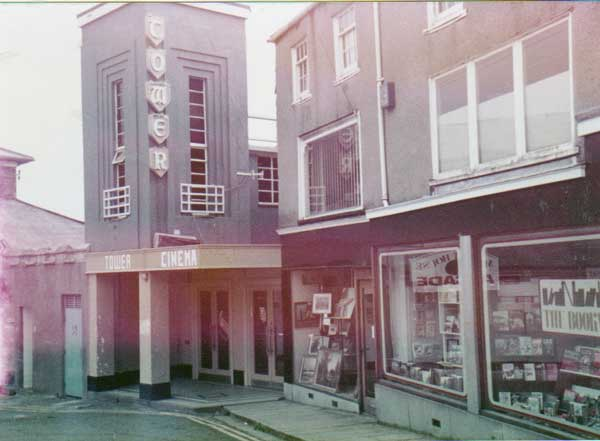 Above the Tower Cinema towards the end of its life,with the Alpha Centre next door in 1986. Photo courtesy of Gary Chapman
