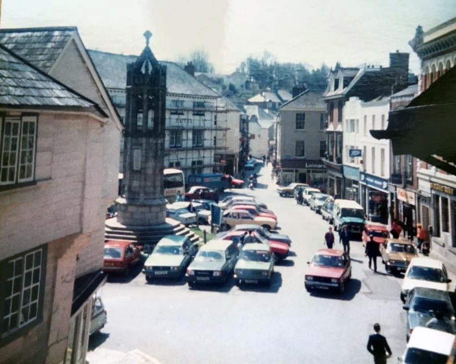 Launceston Town Centre in 1985.