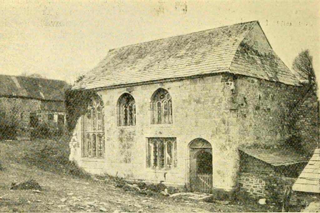 Trecarrel Manor Hall in 1900. Photo by Captain L. Ching