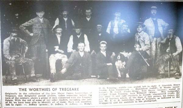 Tregeare Worthies from 1899.
