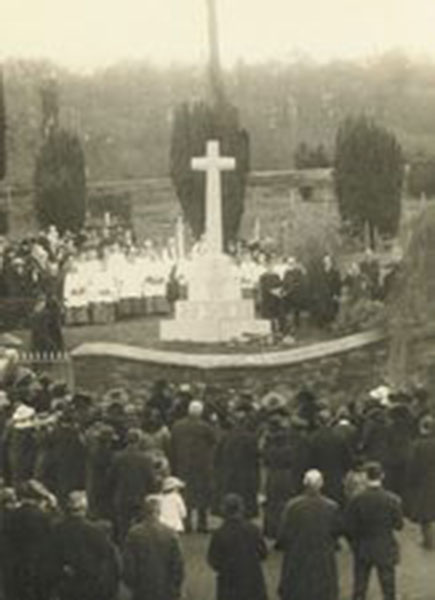 Liftom War memorial dedication February 13th 1920..