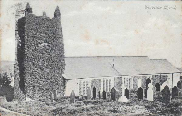 Warbstow Church in 1910.