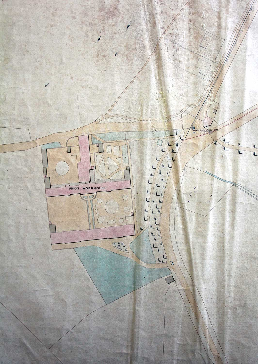 Workhouse Map from 1853.