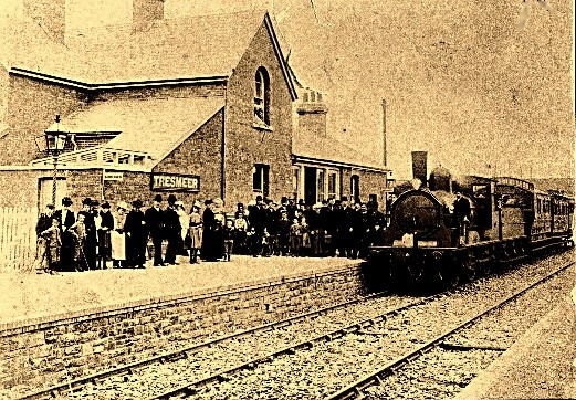 Opening of the line to Tresmeer in July 1892.