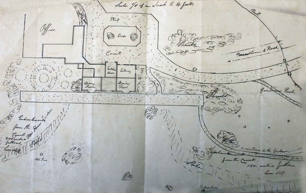 1840's plan of Trebursye Manor