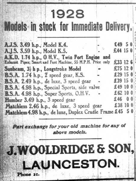 1928-wooldridges-advert